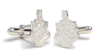 FIJI Fraternity Sterling Silver Crest - Shield Cufflinks