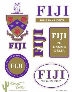 FIJI Traditional Sticker Sheet