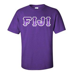 FIJI Fraternity Two Tone Greek Lettered T-Shirt