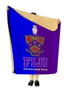 FIJI Two Tone Sherpa Lap Blanket