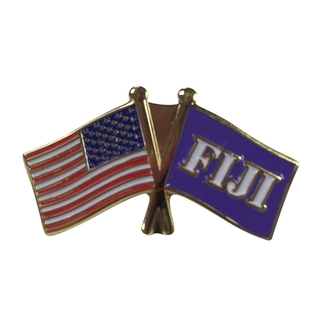 FIJI Fraternity USA Flag Lapel Pin