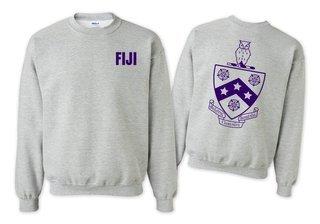 FIJI Fraternity World Famous Crest - Shield Crewneck Sweatshirt- $25!