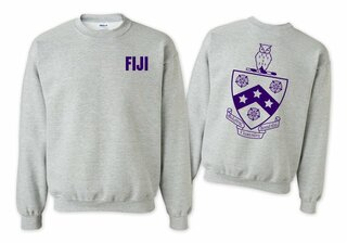FIJI Fraternity World Famous Crest - Shield Crewneck Sweatshirt- $25!