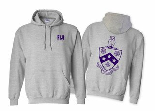 FIJI Fraternity World Famous Crest - Shield Hooded Sweatshirt- $35!
