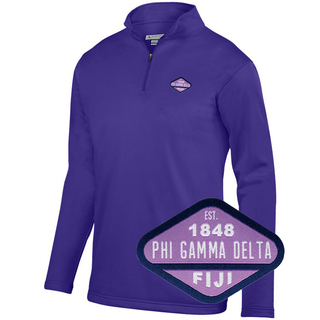 DISCOUNT-FIJI Fraternity Woven Emblem Wicking Fleece Pullover