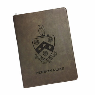 FIJI Fraternity Zipper Leatherette Portfolio with Notepad