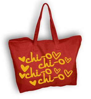 Floating Heart Sorority Tote