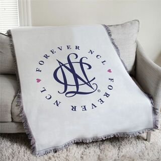 Forever NCL - National Charity League Afghan Blanket Throw