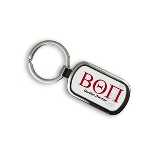 Fraternity Chrome Crest Keychain