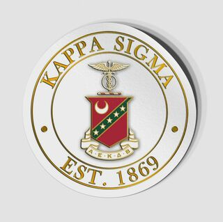 Fraternity Circle Crest - Shield Decal