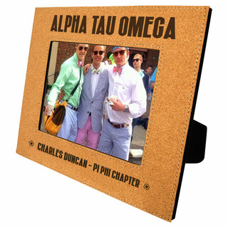 Fraternity Cork Photo Frame