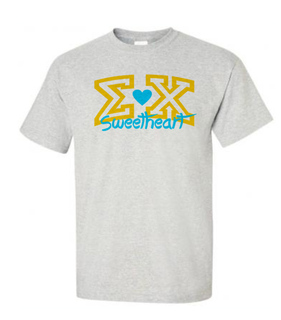 Fraternity Greek Letter Sweetheart Tee
