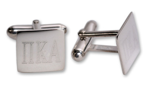 Fraternity Silver Square Cufflinks
