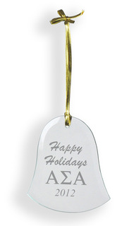 Fraternity & Sorority Glass Bell Ornament