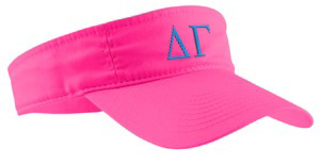 Fraternity / Sorority Greek Letter Visor