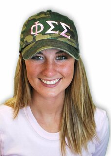 Fraternity & Sorority Lettered Camo Hat