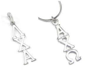 Fraternity & Sorority White Gold Lavaliers