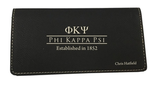 Fraternity - Sorority Leatherette Checkbook Cover