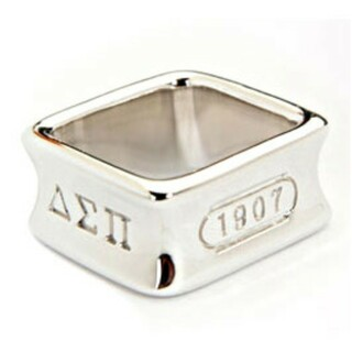 Fraternity Square Sterling Ring