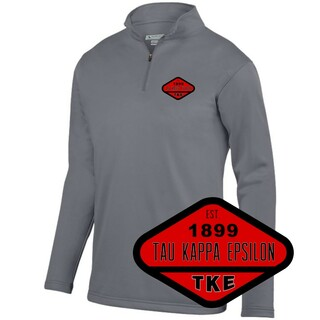 DISCOUNT-Fraternity Woven Emblem Wicking Fleece Pullover