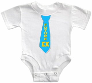 Future Greek Tie Onesie