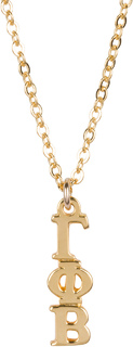 Gamma Phi Beta 22 k Yellow Gold Plated Lavaliere Necklace - ON SALE!