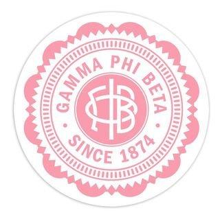 "Gamma Phi Beta 5"" Sorority Seal Bumper Sticker"