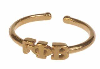 Gamma Phi Beta Adjustable Letter Ring