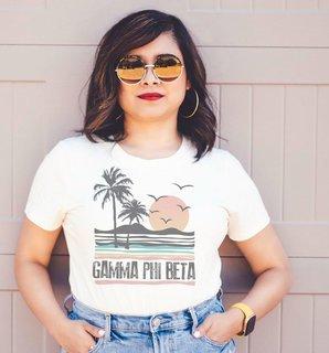 Gamma Phi Beta Beaches Tee - Comfort Colors
