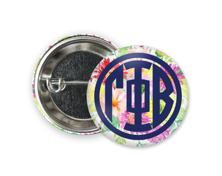 Gamma Phi Beta Bouquet Button