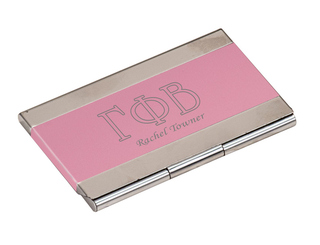 Gamma Phi Beta Business Card Holder