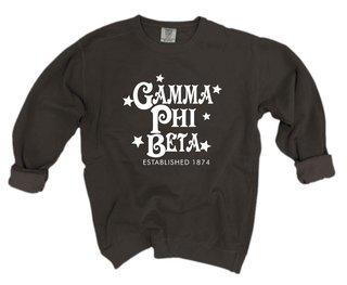 Gamma Phi Beta Comfort Colors Old School Custom Crew