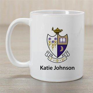 Gamma Phi Beta Crest Coffee Mug - Personalized!