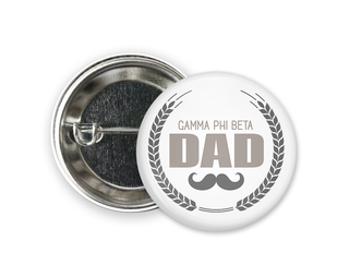 Gamma Phi Beta Dadstache Button