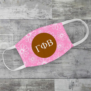 Gamma Phi Beta Daisies Face Mask