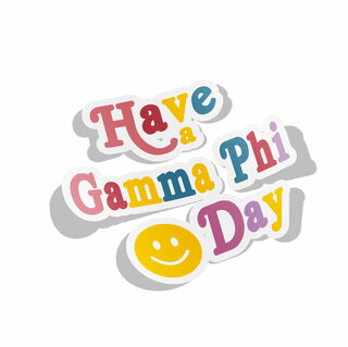Gamma Phi Beta Day Decal Sticker