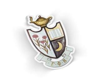 Gamma Phi Beta Die Cut Crest Sticker