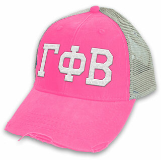 Gamma Phi Beta Distressed Trucker Hat