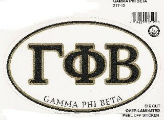 Gamma Phi Beta Euro Style Sticker