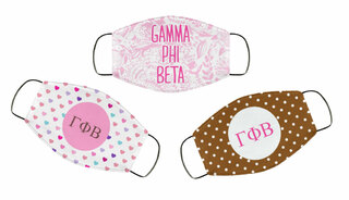 Gamma Phi Beta Face Mask Trio Set