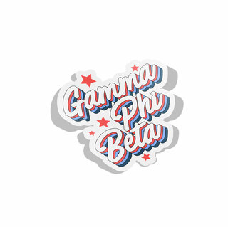 Gamma Phi Beta Flashback Decal Sticker
