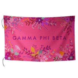 Gamma Phi Beta Floral Flag