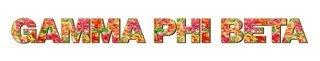 "Gamma Phi Beta Floral Long Window Sticker - 15"" long"