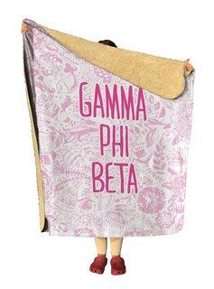 Gamma Phi Beta Floral Sherpa Lap Blanket