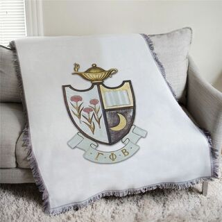 Gamma Phi Beta Full Color Crest Afghan Blanket Throw