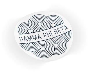 Gamma Phi Beta Geo Scroll Sticker Sticker