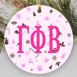 Gamma Phi Beta Holiday Cheer Ornaments