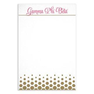 Gamma Phi Beta Gold Notepads