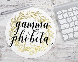 Gamma Phi Beta Gold Wreath Mousepad