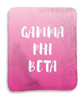 Gamma Phi Beta Gradient Sherpa Lap Blanket